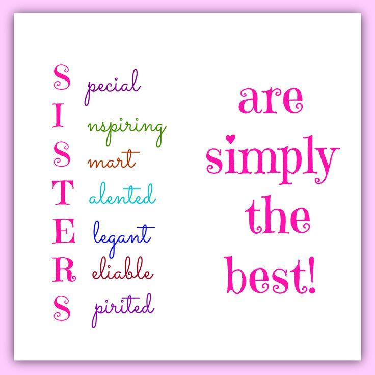 Best 25+ Sister Sayings Ideas On Pinterest
