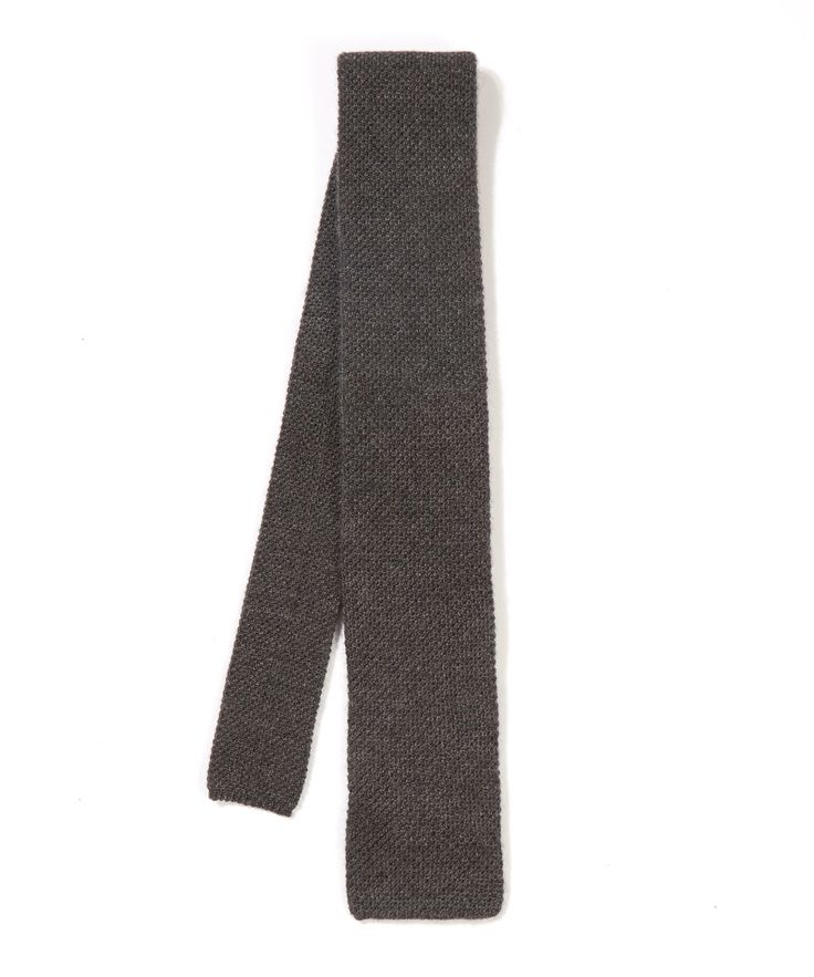Richard James | Gray Grey Knitted Cashmere Tie for Men | Lyst
