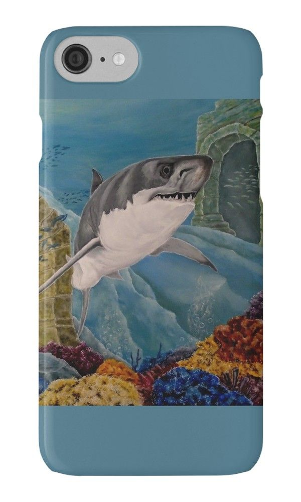 IPhone Case,  aqua,blue,cool,beautiful,fancy,unique,turquoise,trendy,artistic,awesome,fahionable,unusual,accessories,for sale,design,items,products,gifts,presents,ideas,shark,ocean,wildlife,redbubble