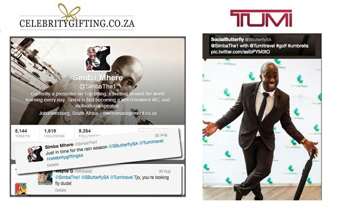 www.celebritygifting.co.za #tumi #simba #celebrity #gifting