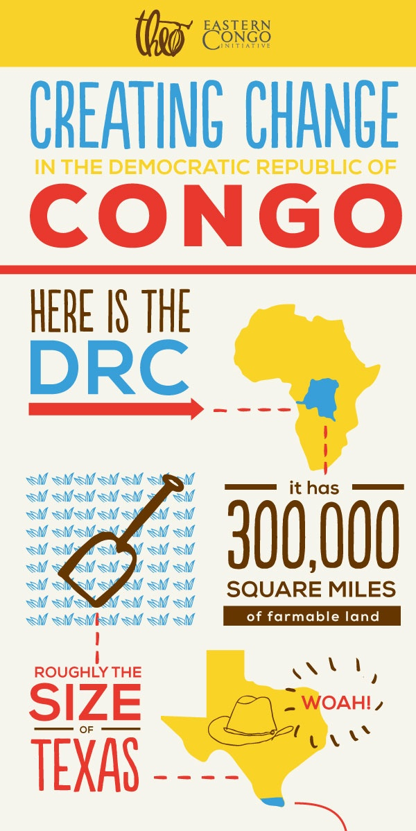 Infographic - Theo Chocolate's work with Eastern Congo Initiative and BenAffleck #theocongo