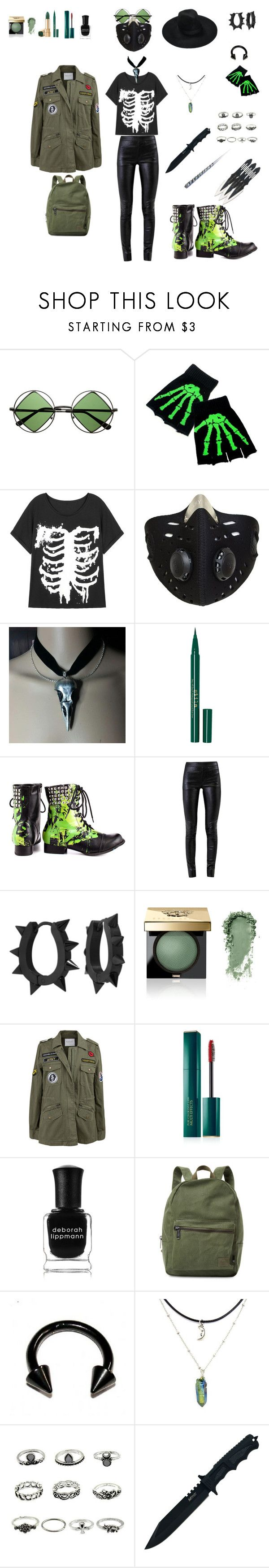"""Post apocalyptic witch? (Ro)"" by cutefoxboy ❤ liked on Polyvore featuring Retrò, Stila, Abbey Dawn, Helmut Lang, West Coast Jewelry, Bobbi Brown Cosmetics, Velvet by Graham & Spencer, Estée Lauder, Deborah Lippmann and Herschel Supply Co."