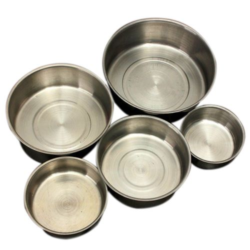 HGHO-Stainless Steel Food Container Set Refrigerator Storage Lunch Bowl Box - 5pcs