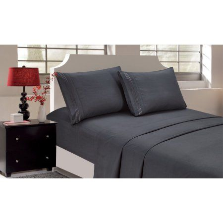 Zimtown Queen Size Duvet Cover Flat Sheet with 2 Pillowcases Shams Image 1 of 2