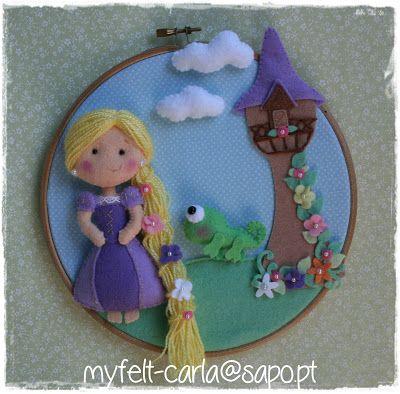 Rapunzel...por My felt Carla. Só coisas preciosas...