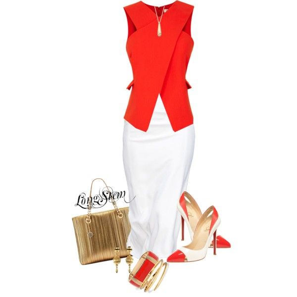A fashion look from March 2014 featuring Opening Ceremony blouses, Christian Louboutin pumps and Bulgari handbags. Browse and shop related looks.