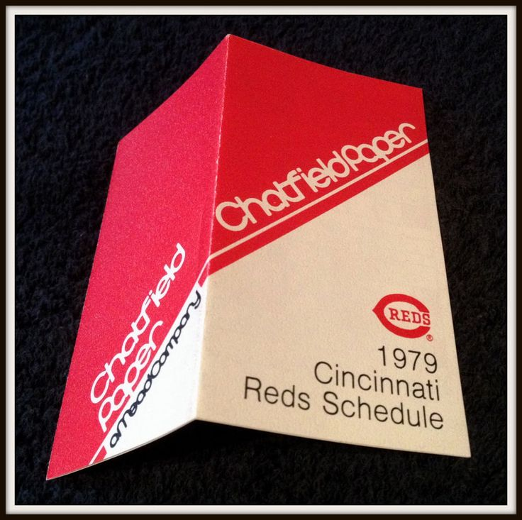 1979 CINCINNATI REDS CHATFIELD PAPER BASEBALL POCKET SCHEDULE EX+NM CONDITION #Pocket #Schedule