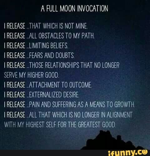 Ful moon invocation