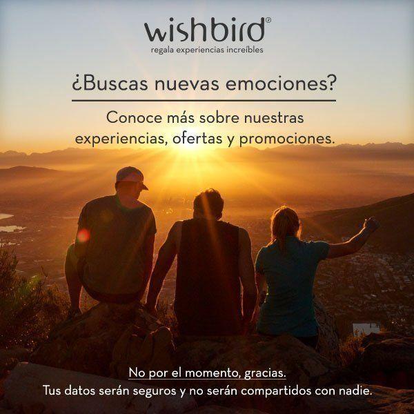 Wishbird ofrece regalos originales basado en experiencias en México. Bono de regalo personalizado gratis. Envio e intercambio gratis.