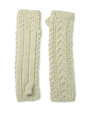 Buji Baja Women's Cable Arm Warmer, Oat