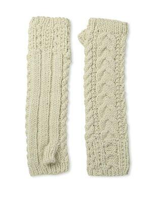 Buji Baja Women's Cable Arm Warmer, Oat