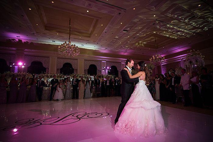 Picture-perfect couple lit by wonderful #uplight lighting! : #Weddingsbythebreakers #FredMarcusStudio
