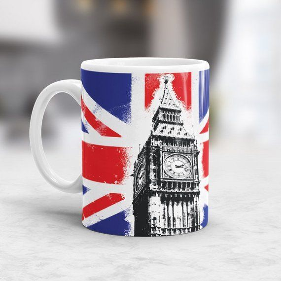 Dishwasher safe Set of 4 High Quality Union Jack Shooter Glass Set