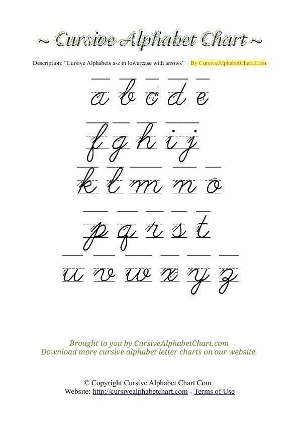 1000+ ideas about Cursive Alphabet Chart on Pinterest | Cursive ...