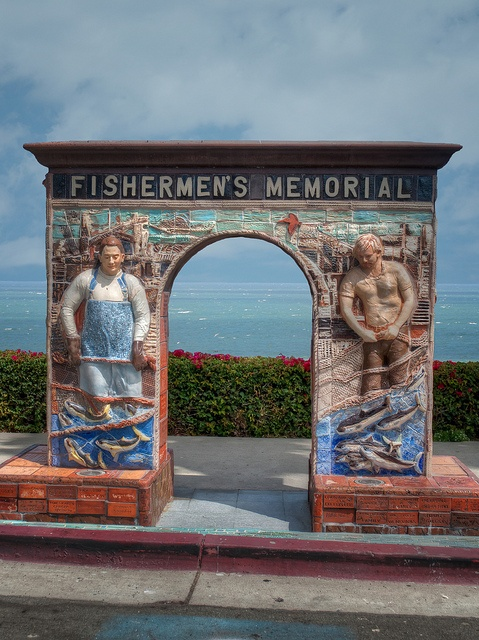 Fishermen's Memorial by dspindle, Ventura Harbor Village, Ventura, California