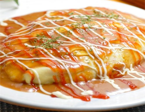 Gebratener Reis mit Omelette