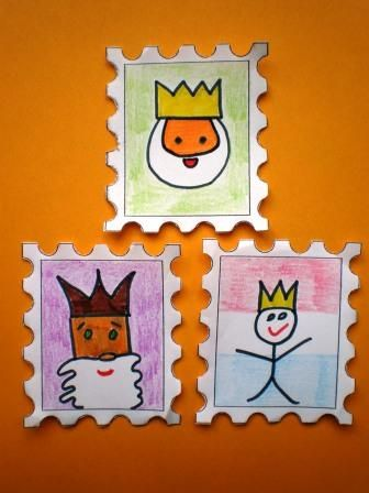 postzegels koningsdag knutselen