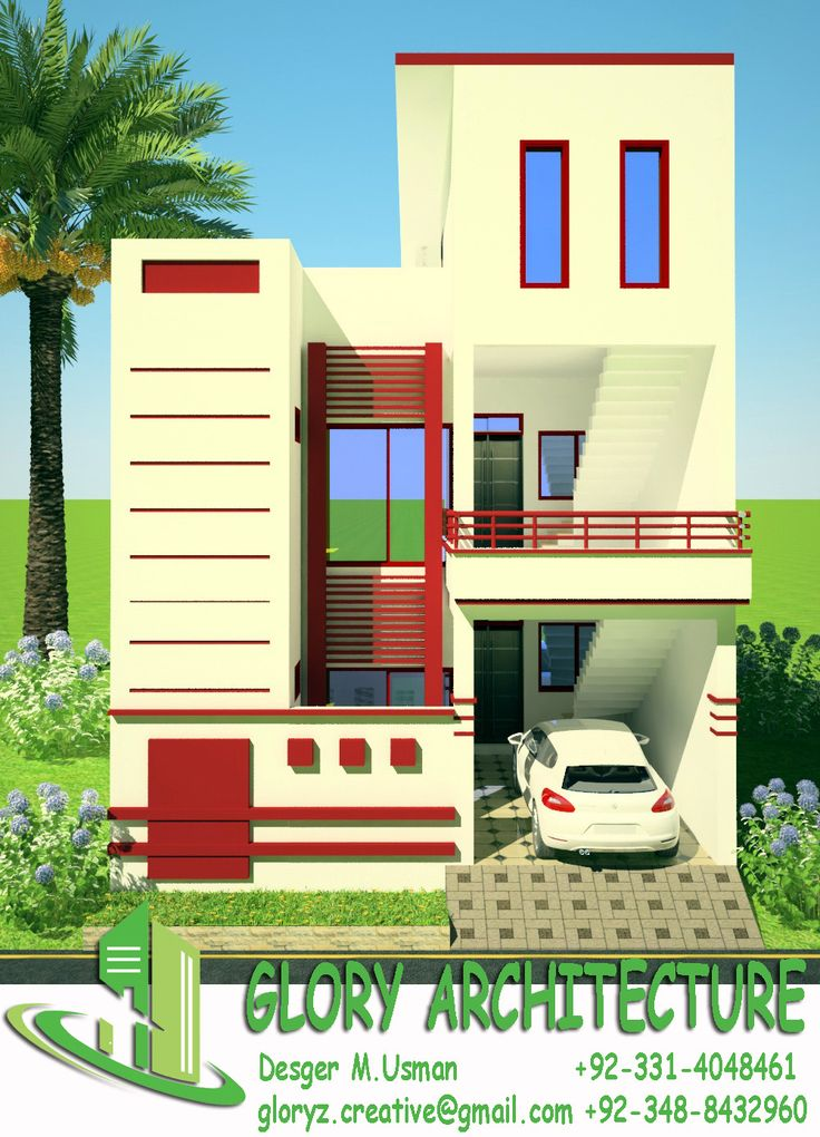 House Elevation Front 3D View