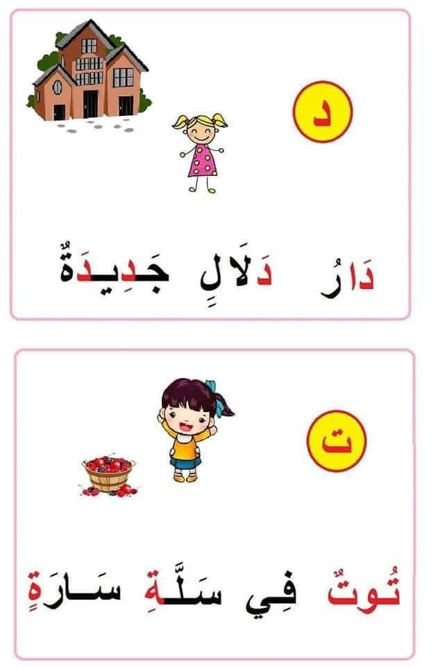 جمل للتدريب على القراءة والاملاء مدونة جنى للأطفال In 2021 Alphabet Coloring Pages Learning Arabic Alphabet Coloring