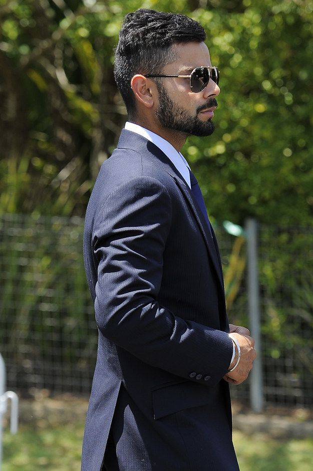 Jawline and beard..good god virat kohli...how did you get soo hot?!