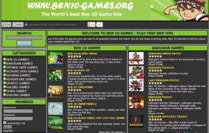 Ideas de negocios online, un sitio de juegos de Ben 10