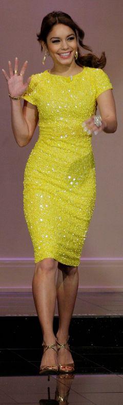 Vanessa Hudgens: Dress – Alice + Olivia  Bracelet – Cartier  Shoes – Jerome C Rousseau