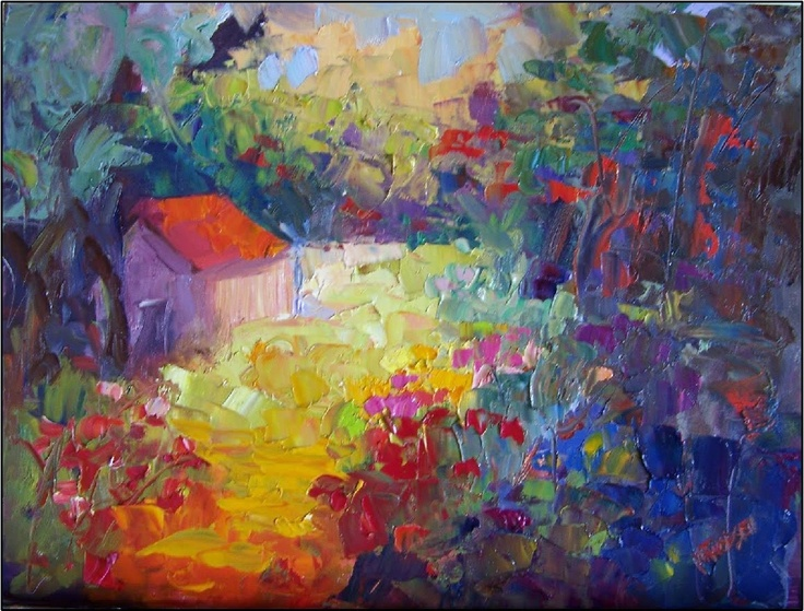 i'm going to swim in the sunlight on a field of flowers and float away  ~twig painting