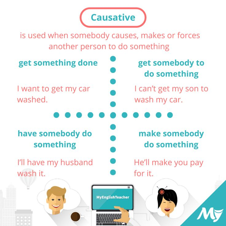 Causative Verbs: how many structures of sentences are there in English?
