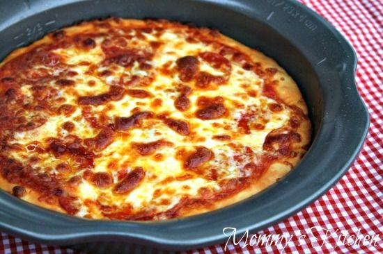 Mommy's Kitchen's Copy Cat Pizza Hut Pepperoni Pan Pizza. That looks a lot better than Pizza Hut to me!