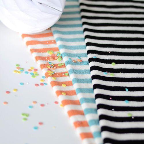 Stripe Terry, Aqua | NOSH Fabrics Spring & Summer 2016 Collection - Shop at en.nosh.fi | Kevään 2016 malliston kankaat saatavilla nyt nosh.fi