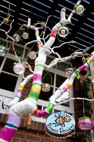 Dekoherz: Bine Brändles bunte Welt: Sommerlicher Lampenbaum