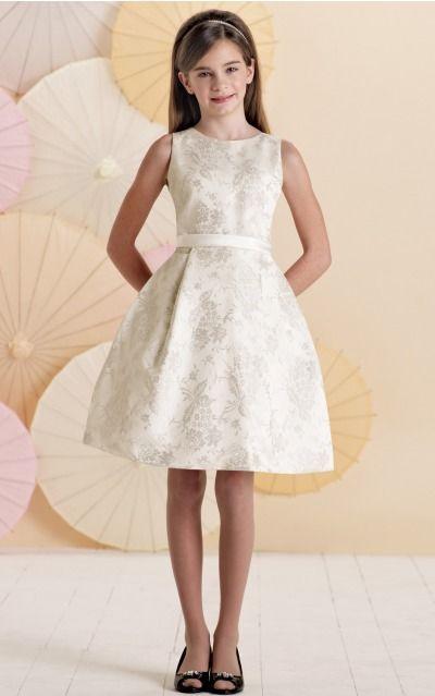 Satin Jewel Natural A-line Knee-length Bridesmaid Dresses 0740014