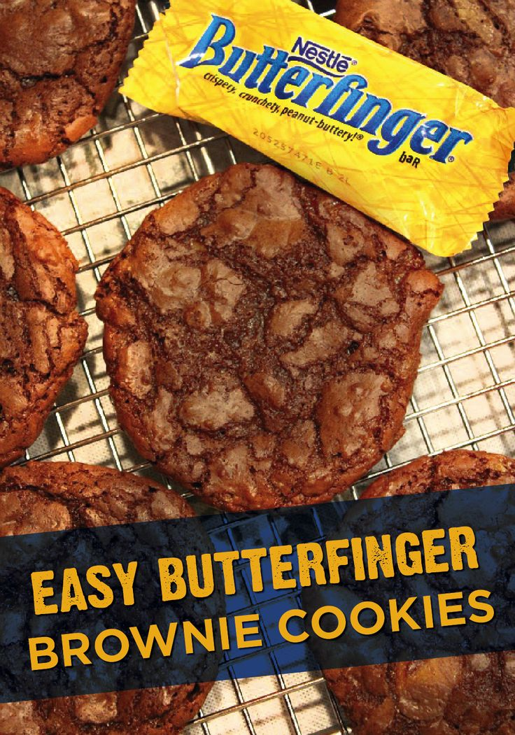 season to make Butterfinger Brownie Cookies. Mix chopped BUTTERFINGER ...