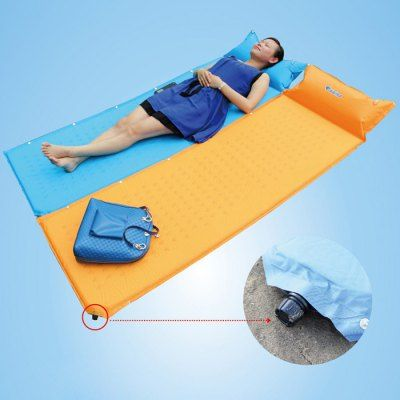 Bluefield 185 x 60cm Inflatable Moisture-proof Pad + Pillow-30.96 and Free Shipping| GearBest.com