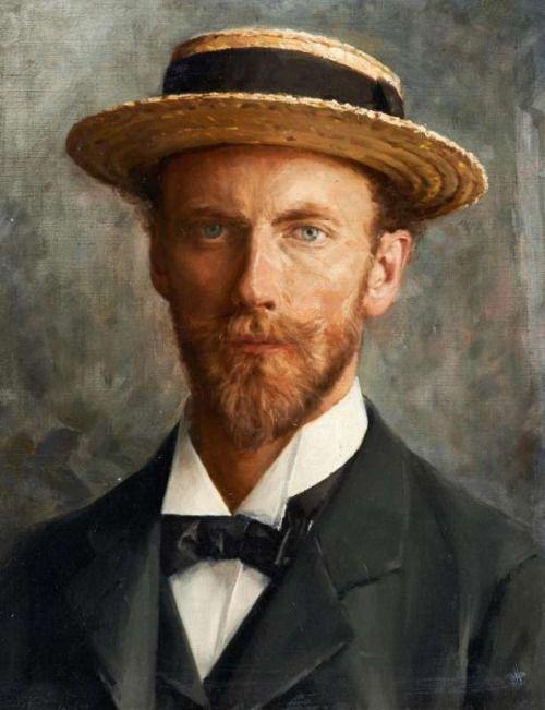 blastedheath: French School (19th century), Portrait of a young man. Oil on canvas, 46 x 38cm.: