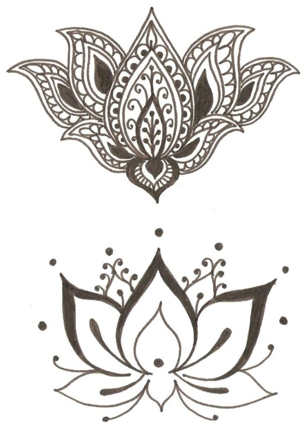 Lotus - Flower symbol of spirituality, beauty, femininity, purity I like the bottom one for my wrist tattoo to be matched with the om symbol. by lucile