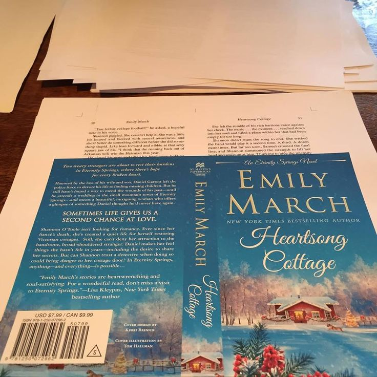 Reading page proofs on a hot summer afternoon. #HeartsongCottage #EternitySprings
