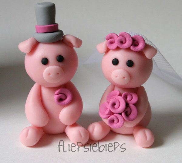 Piggy Wedding Cake Topper by fliepsiebieps1, via Flickr