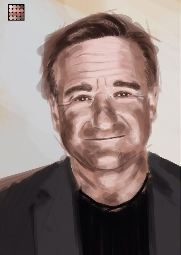 A quick digital sketch in tribute to a comedic genius.  Robin Williams.