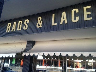 Rags and Lace is a ladies-only second hand clothing store on Jan Smuts. No we don't mean they only sell women's clothing, we mean men are not allowed inside.