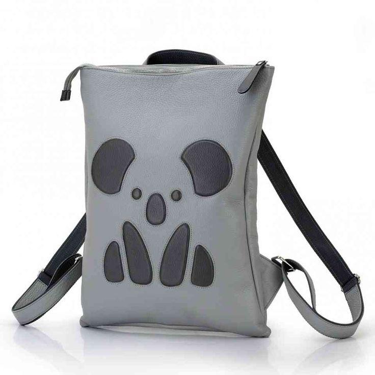 """Женский рюкзак с рисунком """" коала """" . Натуральная кожа , ручная работа."""