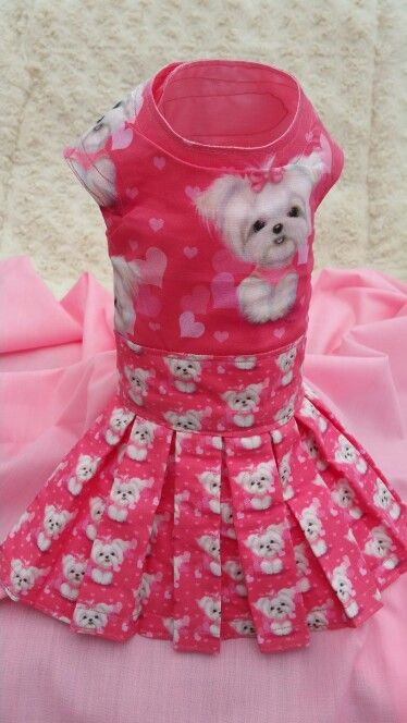 Maltese dress with Maltese all over it very pretty for sale in Pixies Posh Pets or email us at Pixiesposhpets@yahoo.co.uk