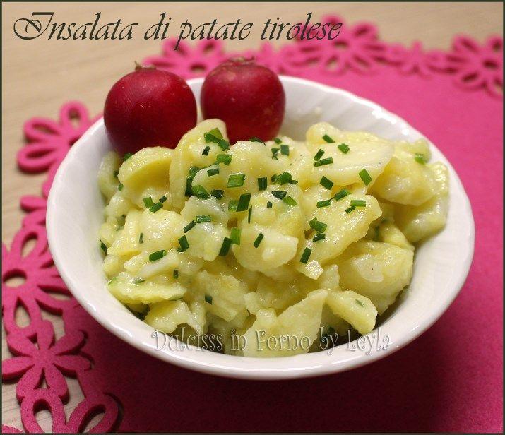 Insalata di patate tirolese o Kartoffelsalat un contorno tipico tedesco. Ecco la ricetta dell'Insalata di patate dell'Alto Adige. Fresca e gustosissima.