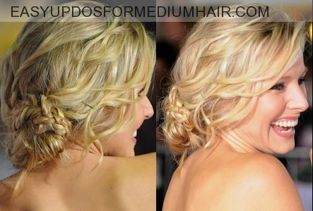 Low Updos And Loose Bun Suit You In Casual Daily Activities | Easy Updos For Medium Hair