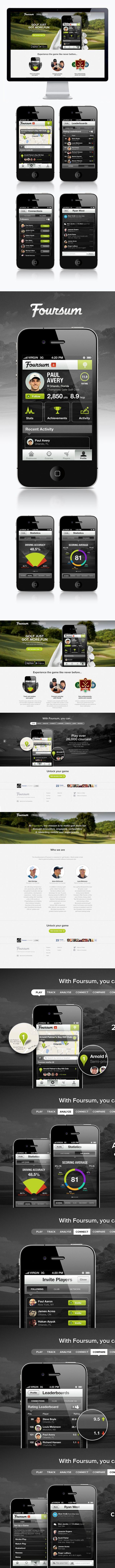 Foursum Golf by Moosesyrup , via Behance