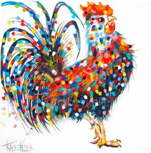 Rufio Tracey Keller Rooster Painting