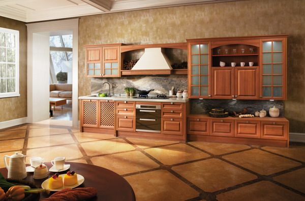 OP12-X165 solid wood kitchen cabinet