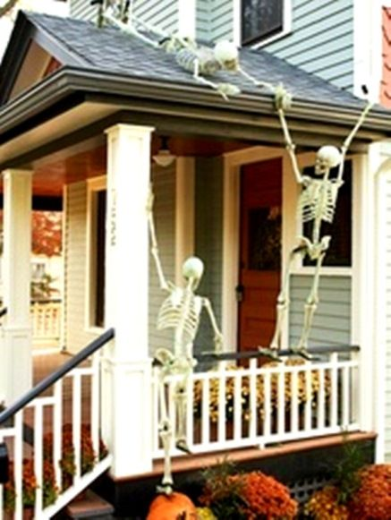 Image result for skeletons climbing up side of house