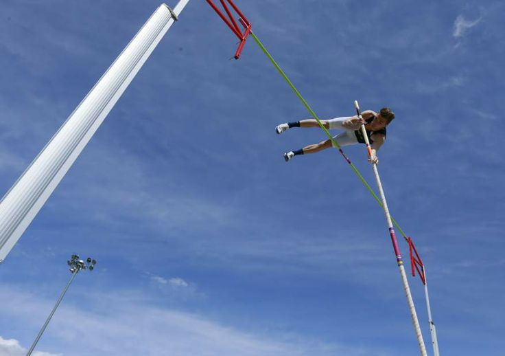 (Slideshow) Spring prep sports, week 5; Bend's Camden Stoddard clears the bar on a pole vault attempt during the Summit Invitational track meet on Saturday at Summit High School.