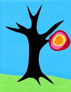 Kandinsky Fall Tree Tutorial | Art Projects for Kids